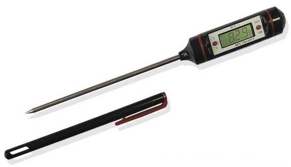 Термометр цифровой кухонный штыковой для горячих и холодных блюд