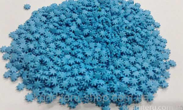 Посыпка Снежинки голубые 100 грамм