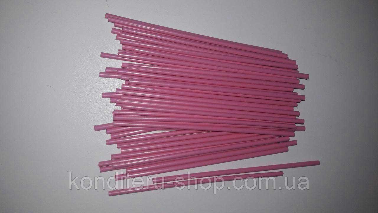 Палочки для кейк-попсов розовые 15 см