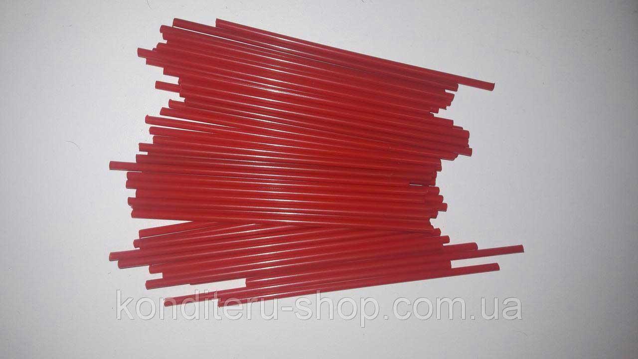 Палочки для кейк-попсов красные 15 см