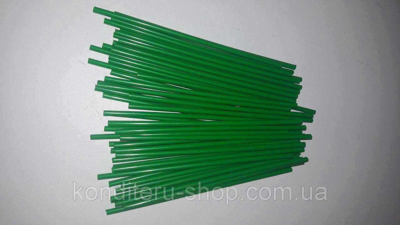 Палочки для кейк-попсов зеление 15 см