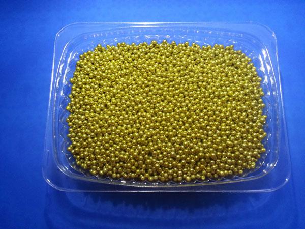 Посыпка кондитерская Золотые шарики 5 мм Италия