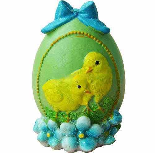 Силиконовый молд * Пасхальное яйцо с бантом и цыплятами* 3 D