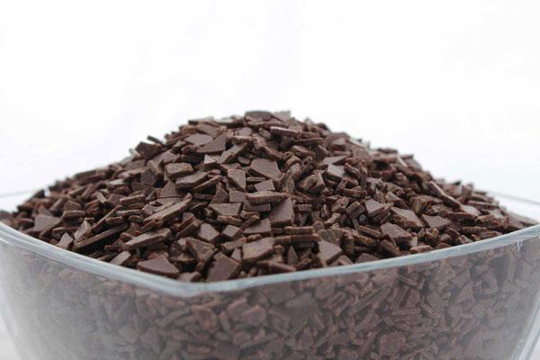 Шоколадные осколки черные