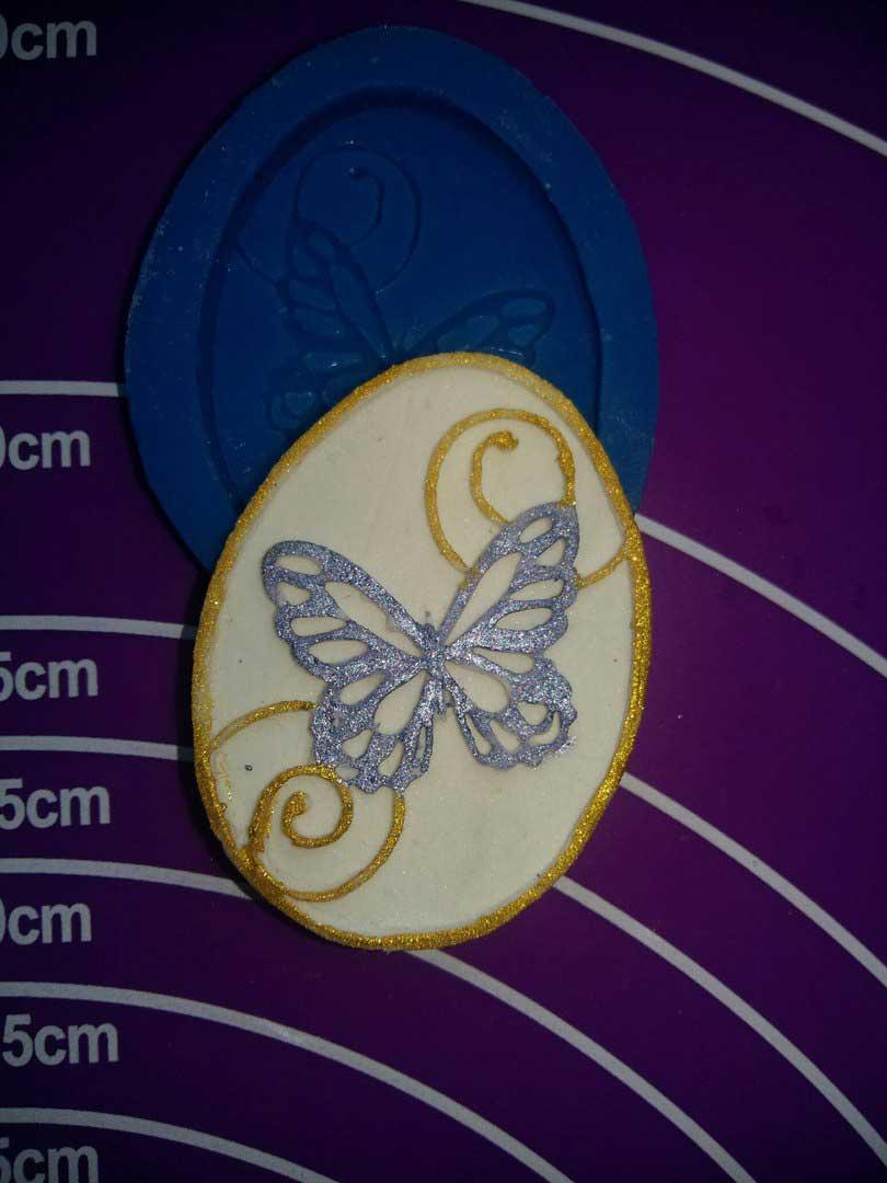 Силиконовый молд * Пасхальное яйцо с бабочками *