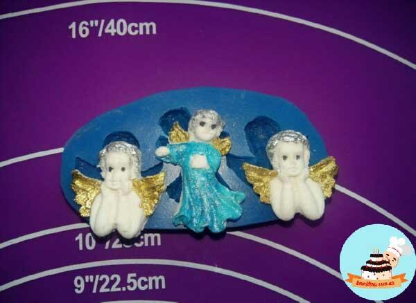 Силиконовый молд 3 ангелочка