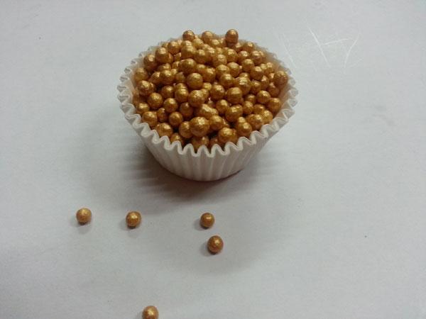 Посыпка декоративная кондитерская Сахарные шарики Золото 5мм