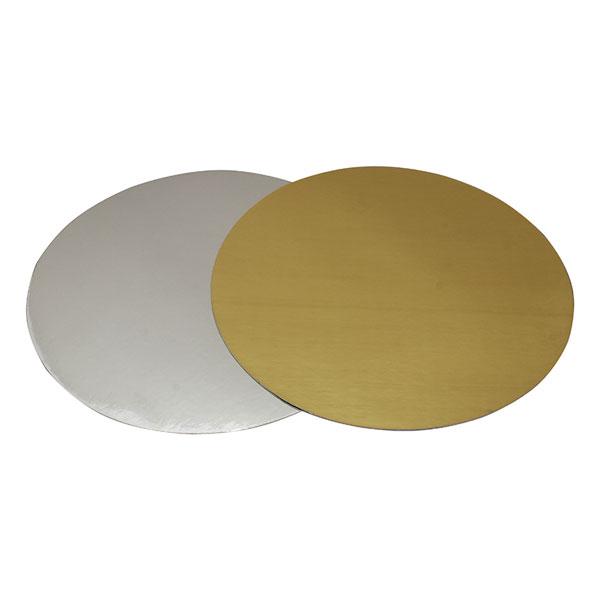 Подложка под торт золото/серебро 28 см от 5 шт