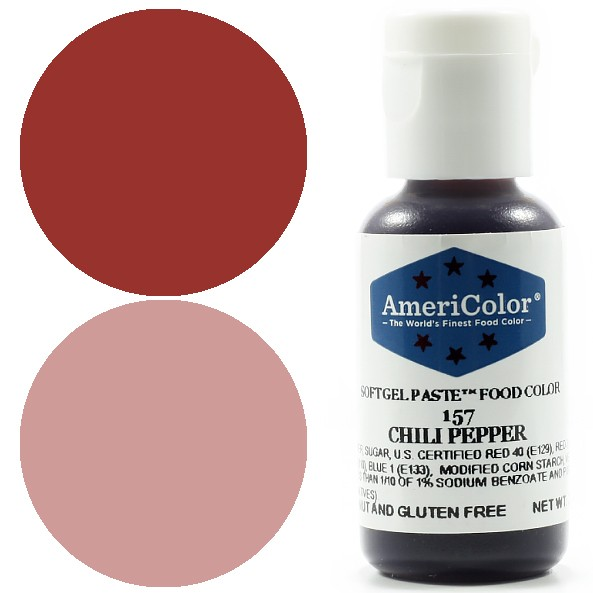 Пищевая краска AmeriColor гелевая перец чили 21 г