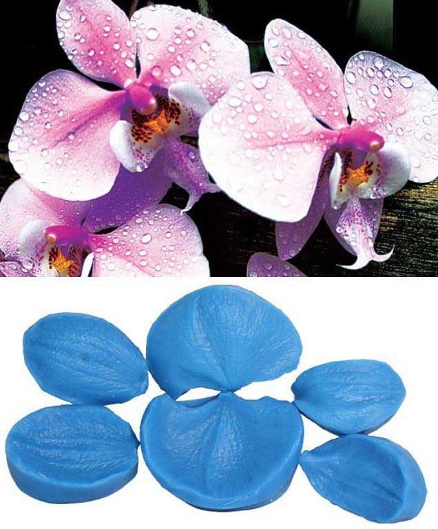"""Силиконовый вайнер """"Набор лепестков орхидеи фаленопсис из 6"""