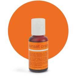 Гелевый краситель Chefmaster Sunset Orange / Оранжевый, 20 гр (США)