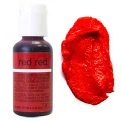 Гелевый краситель Chefmaster Red Red / Ярко красный, 20 гр (США)