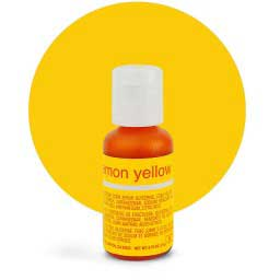 Гелевый краситель Chefmaster Lemon Yellow / Желтый Лимон, 21 гр (США)