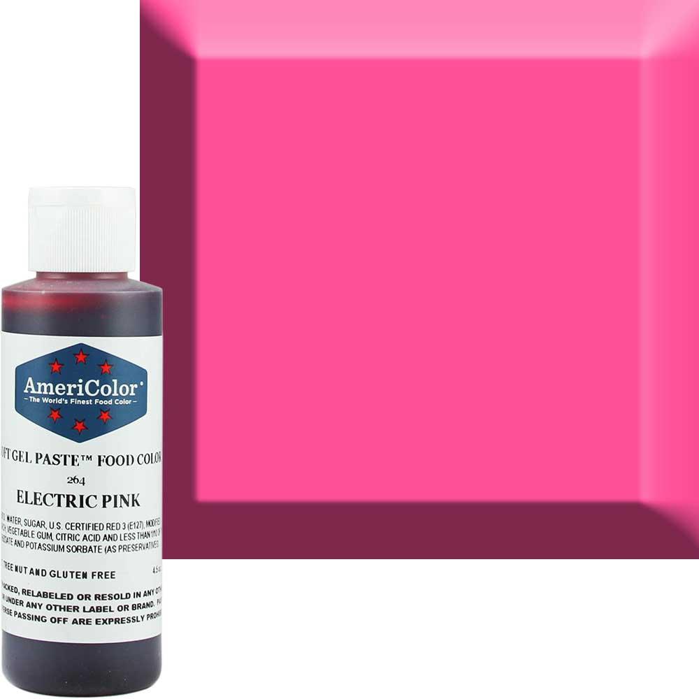 Гелевая краска Америколор Розовый электрик. 128 грамм