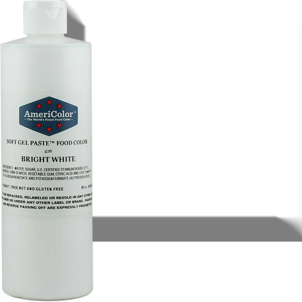 Краситель гелевый AmeriColor (Америколор) Яркий Белый 168 грм