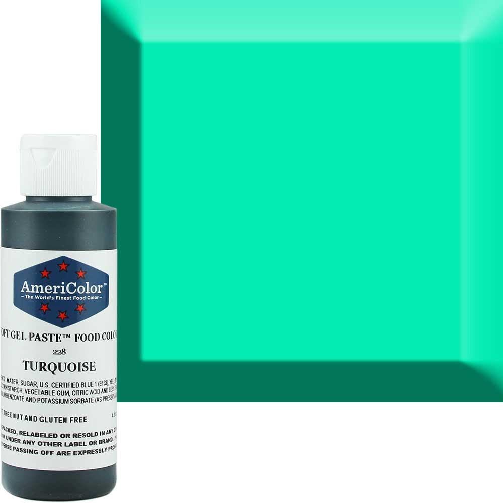 Гелевая краска Америколор Бирюза, 128 грамм