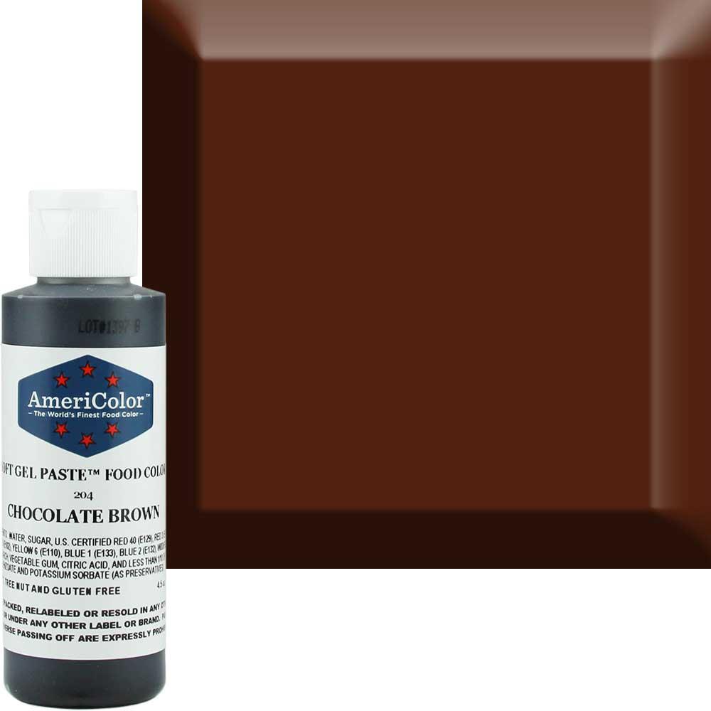 Гелевая краска Америколор Шоколадно-коричневая 128 грамм