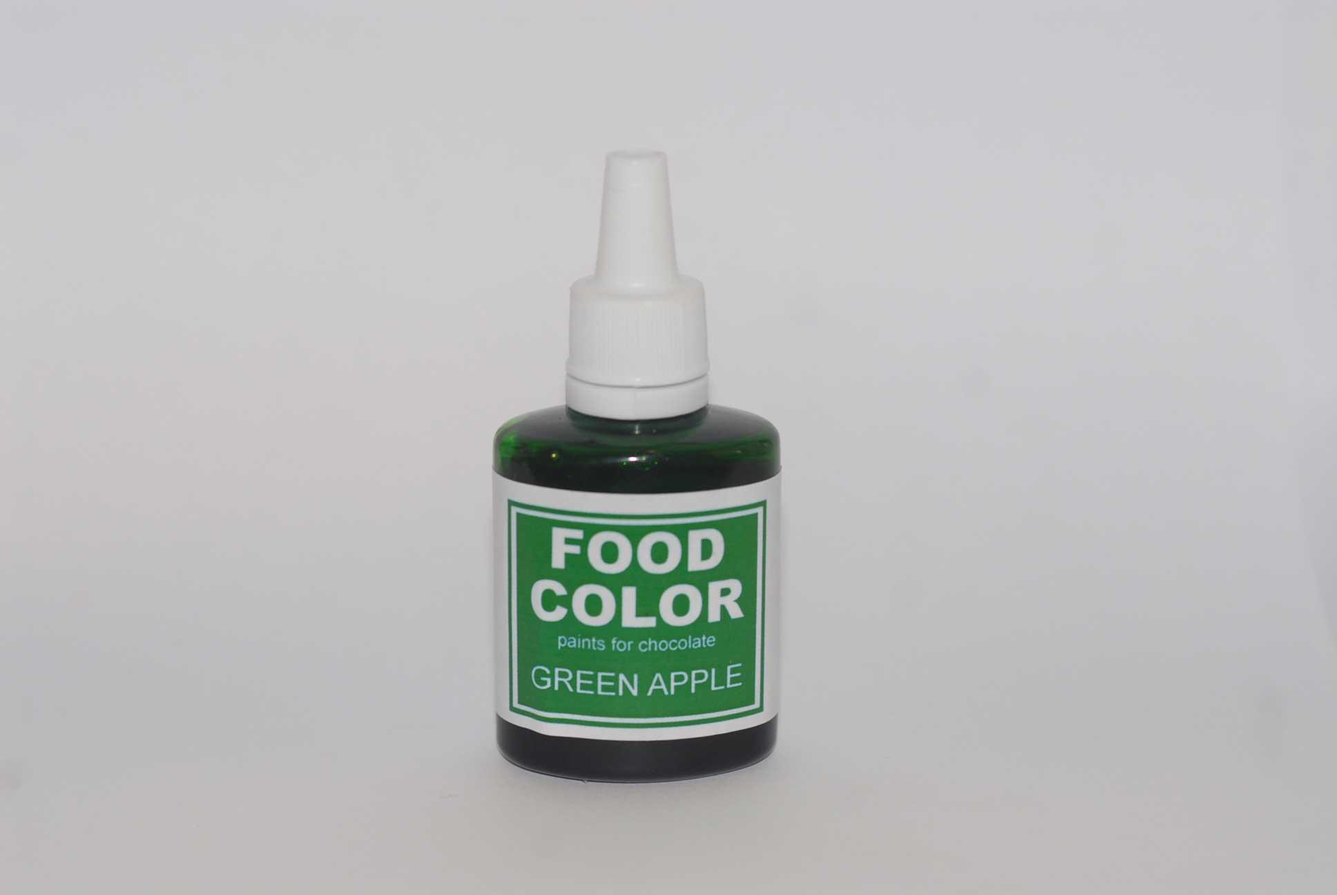 Краситель для шоколада FOOD COLOR Green Apple / Зеленое Яблоко, 25 гр