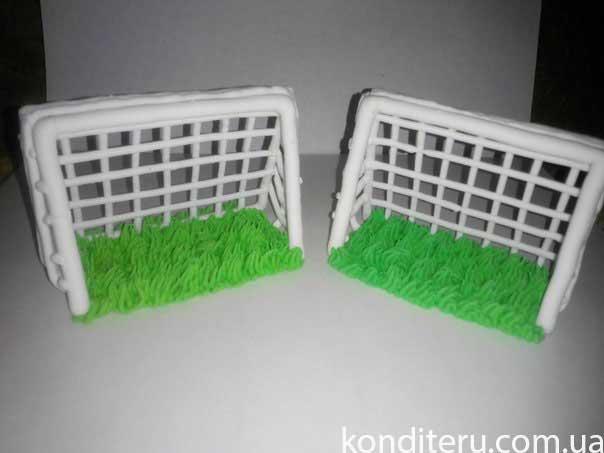 Как сделать ворота для торта футбольное поле 908