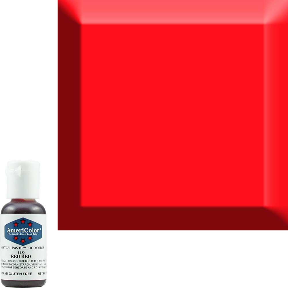 Гелевая краска Америколор Ярко красный 119