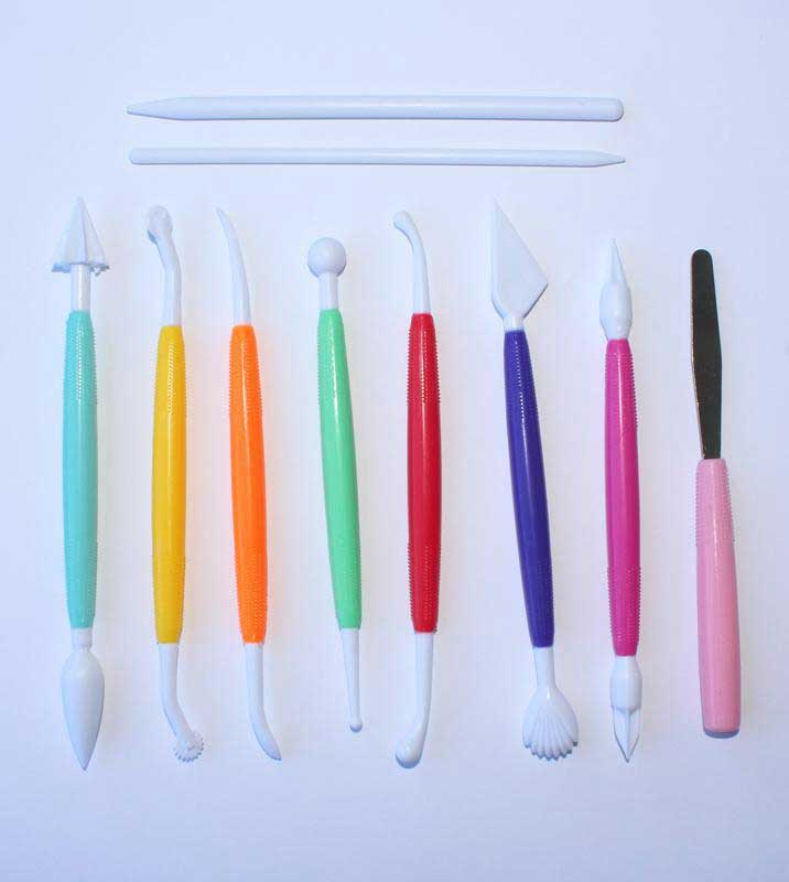 Набор инструментов для мастики и марципана 10 предметов