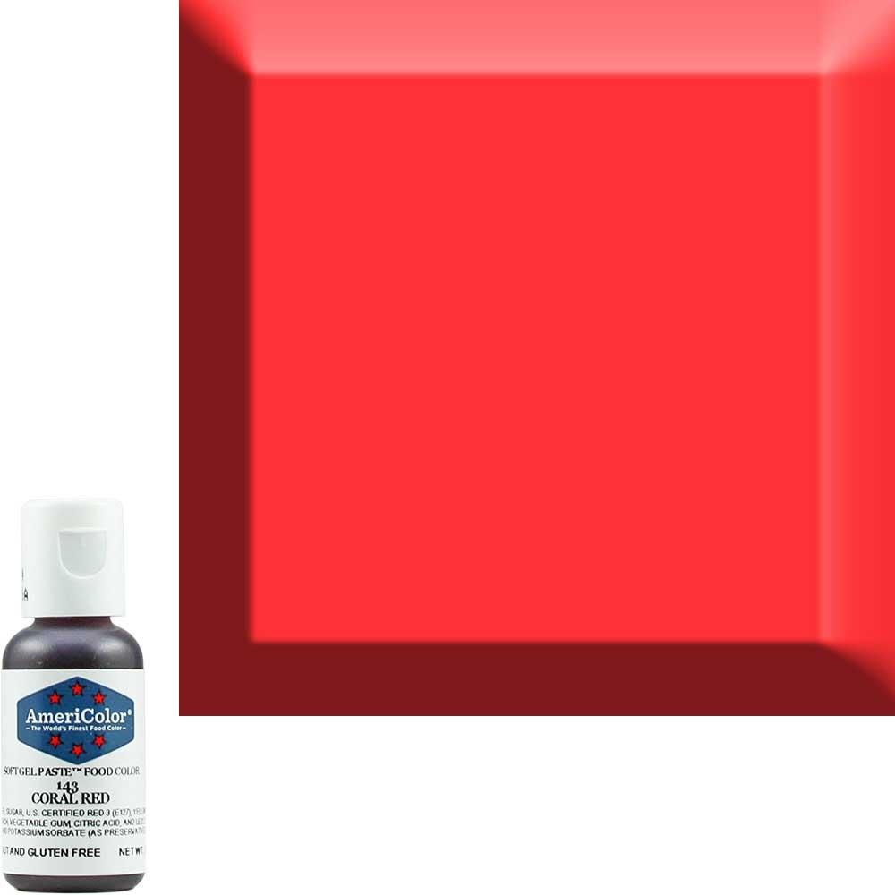 Краситель гелевый Americolor Кораллово - красный 143 (Coral red)