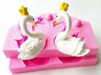 Молд декор 3 D Пара Лебедей