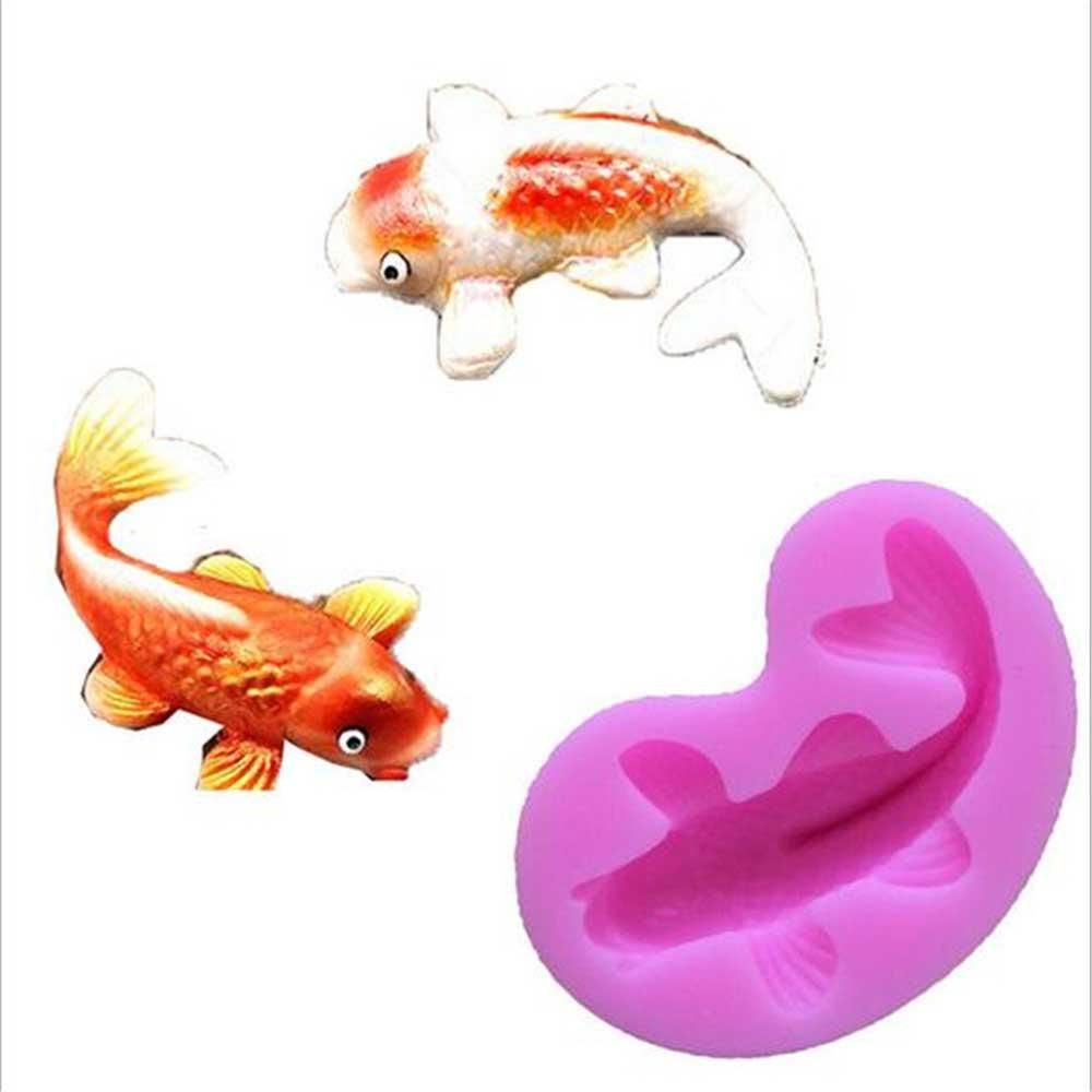 Силиконовый молд - рыбка