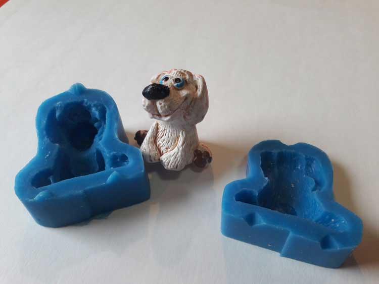 """Силиконовый молд """"Собака 3D"""""""