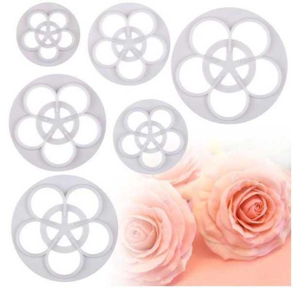 Набор вырубок роза из 6 шт