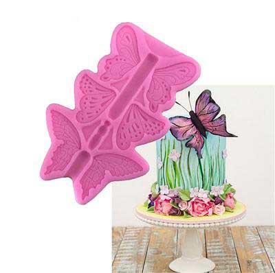 Силиконовый молд 3D Бабочки