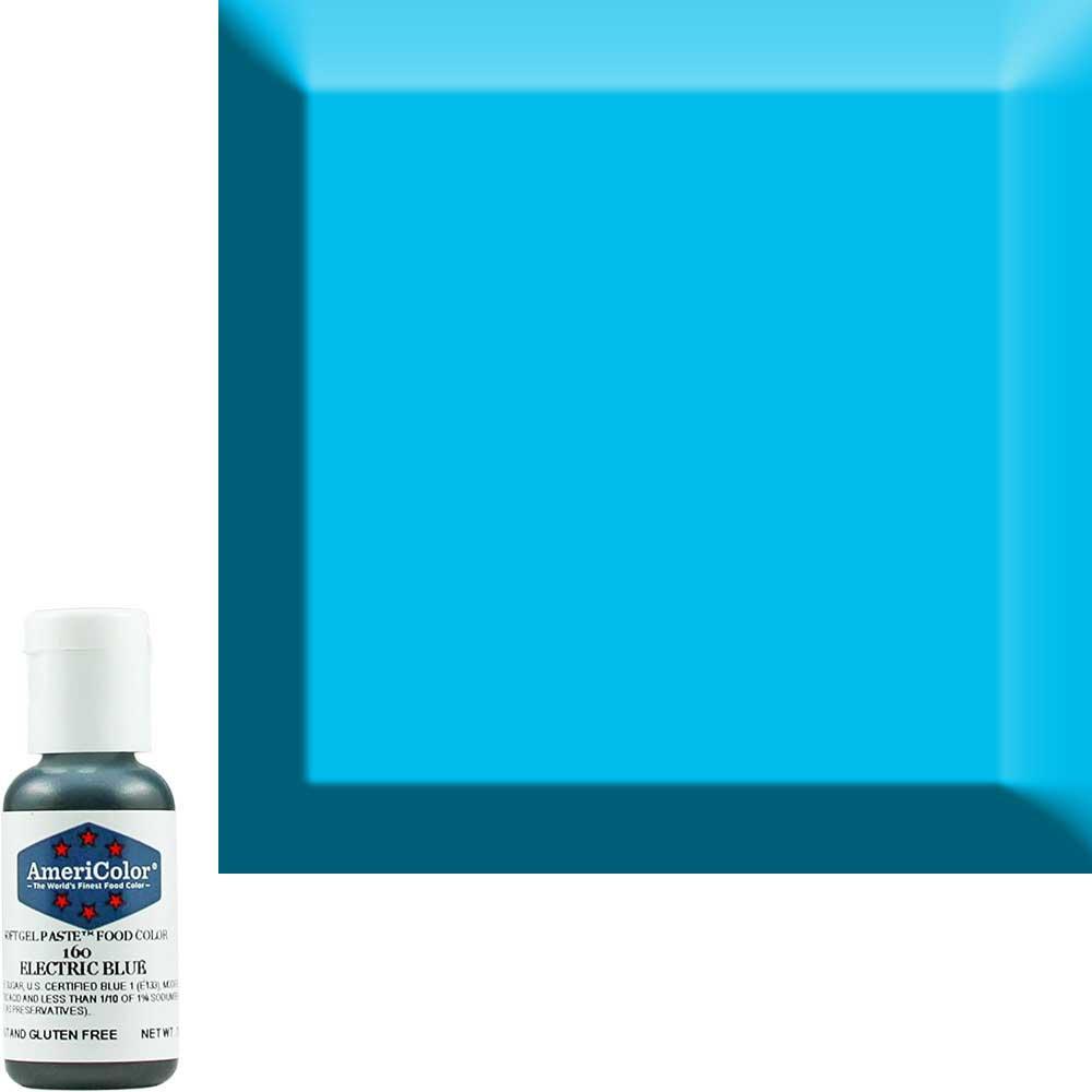 Краска гелевая Americolor (Америколор) Голубой-Электрик 160