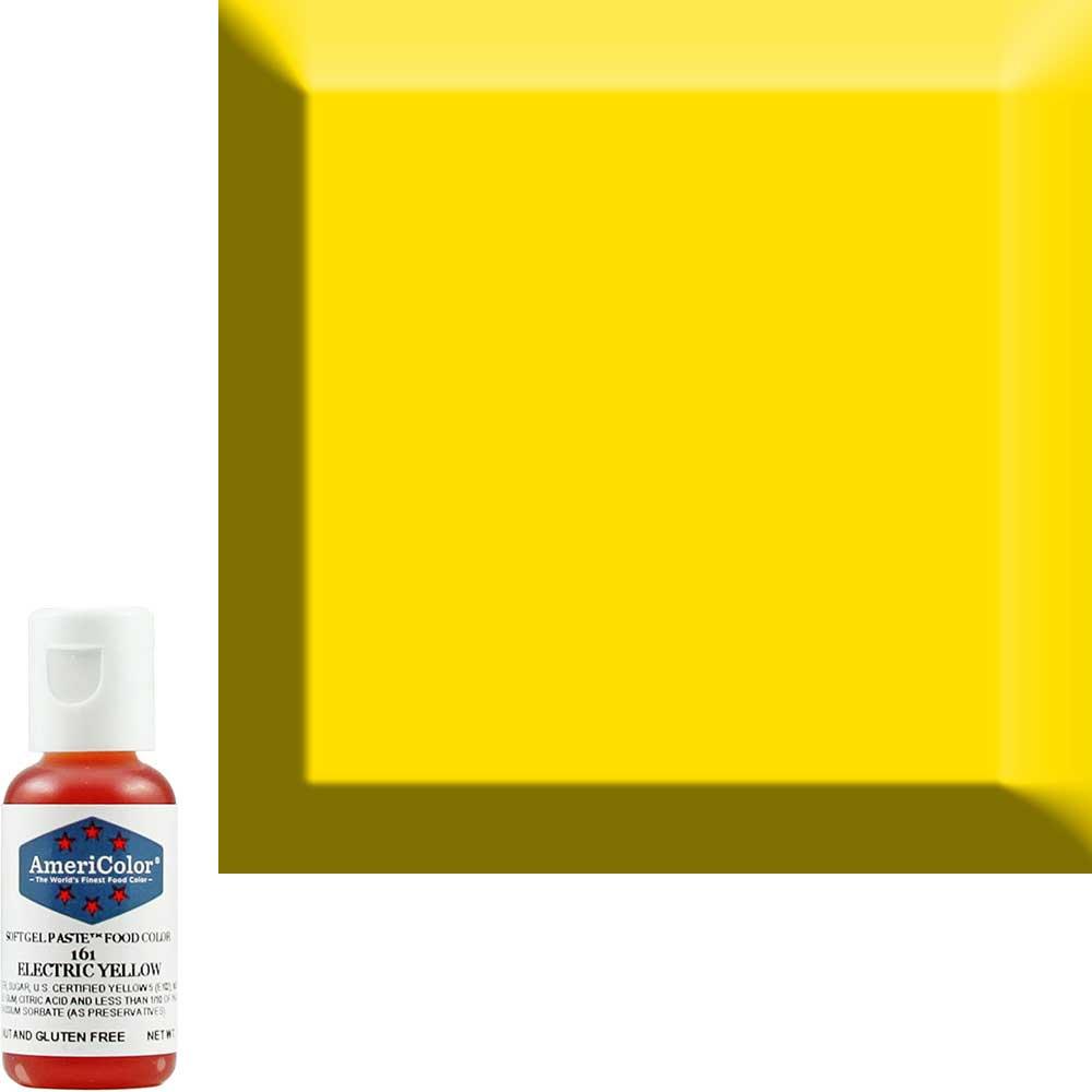 Краска гелевая Americolor (Америколор) Желтый-Электрик 161