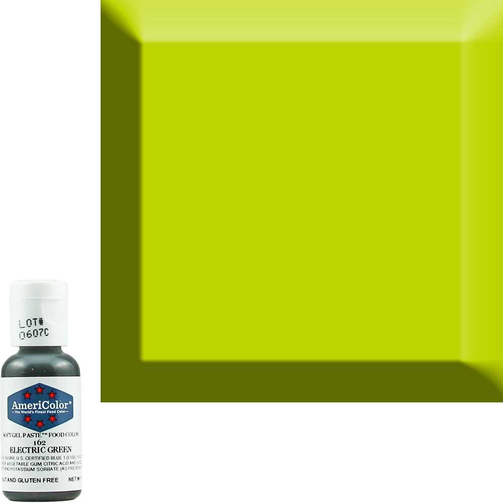 Краска гелевая Americolor (Америколор) Зеленый-Электрик 162