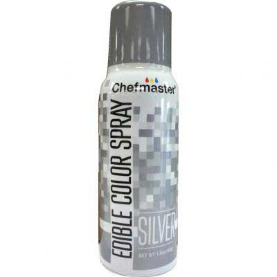 Краска-спрей Chefmaster, Edible Color Spray, (серебро).