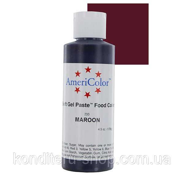 Гелевая краска Америколор Коричнево-малиновый, 128 грамм