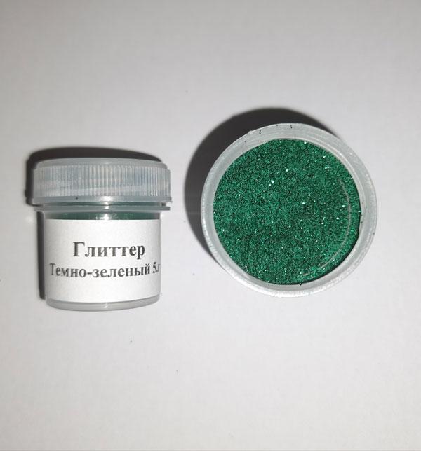 Глиттер темно-зеленый 5 г
