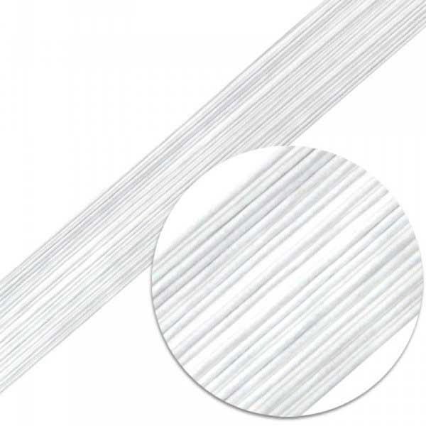Проволка для цветов белая №24-50шт