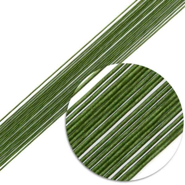 Проволка для цветов зеленая №24-50шт
