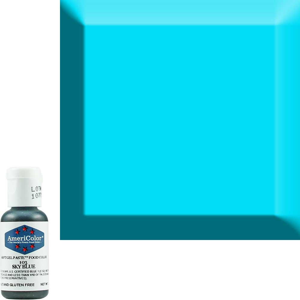 Краситель гелевый Americolor (Америколор) Небесно-Голубой 103
