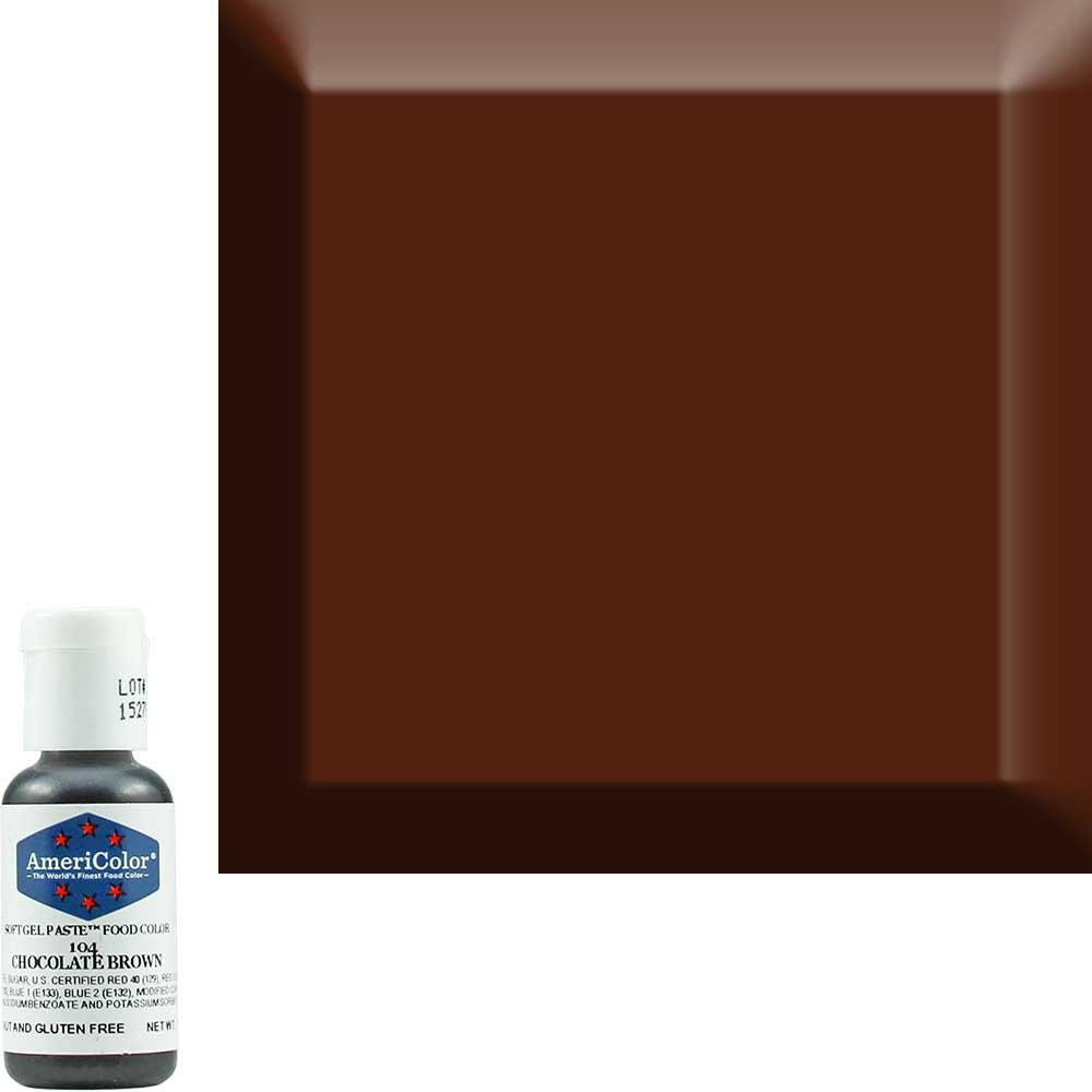 Краситель гелевый Americolor Шоколадно-Коричневый 104