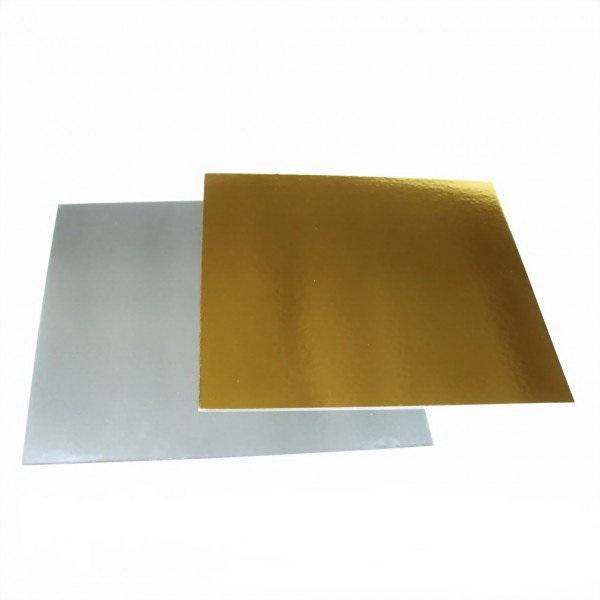 Подложка под торт золото/серебро 25х25 см от 5 шт