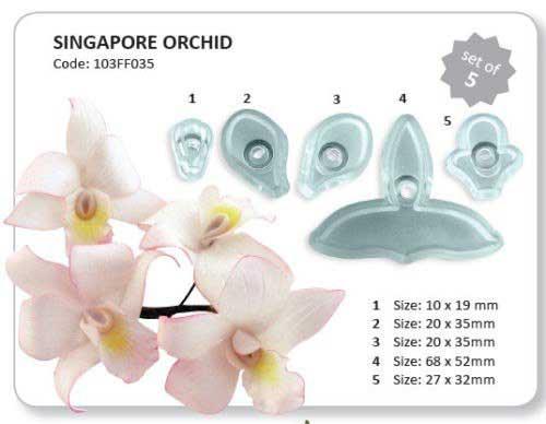 """Набор вырубок """"Орхидея"""" из 5 единиц"""