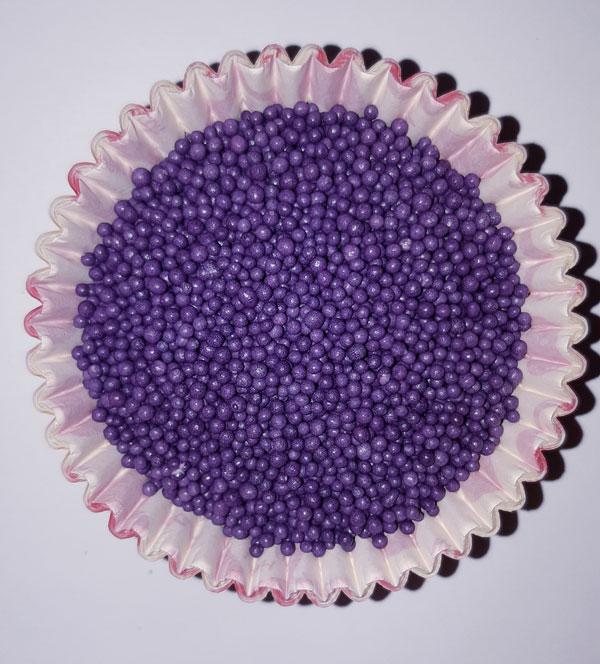 Посыпка Нонпарель круглая фиолетовая
