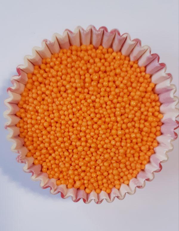 Посыпка Нонпарель круглая оранжевая