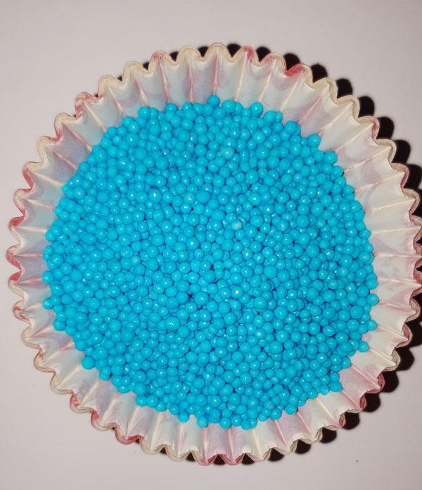 Посыпка Нонпарель круглая голубая