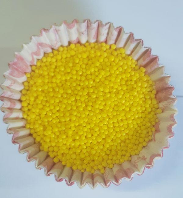 Посыпка Нонпарель круглая  желтая