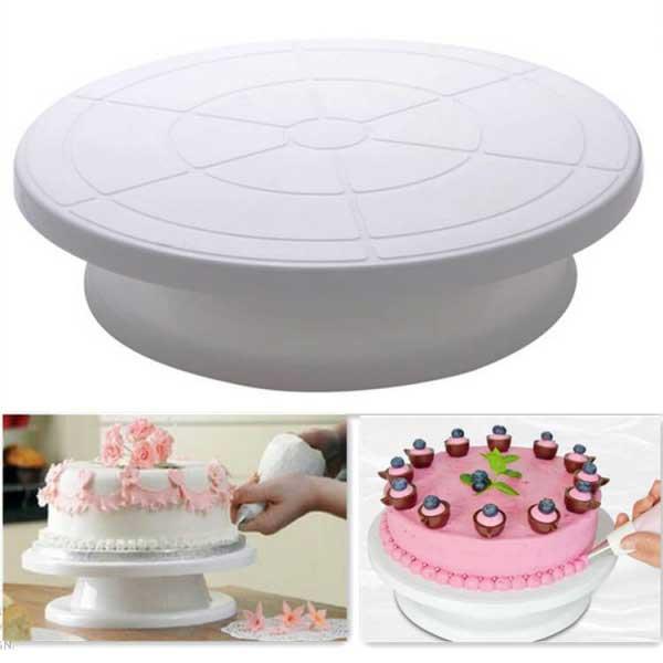 Подставка для торта вращающаяся, 27.5 см 9 см