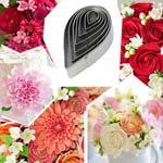 Каттер для мастики Роза металл капля из 7 шт