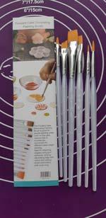 Кисточки кондитерские для пряников в наборе из 6-ти